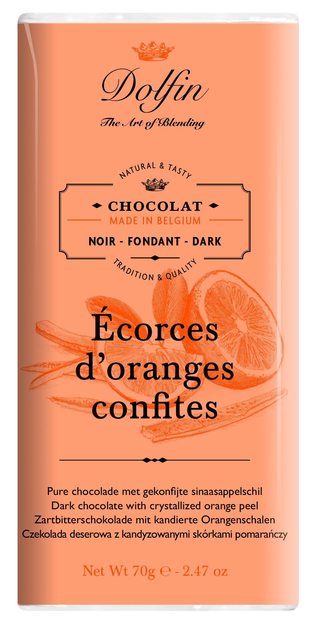 70 g juodas su apelsinų cukatomis